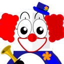 128x128px size png icon of Clown Tux