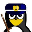 128x128px size png icon of Cop Tux