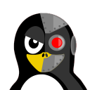 128x128px size png icon of Cyborg Tux