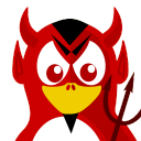 128x128px size png icon of Devil Tux