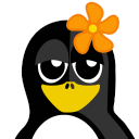 128x128px size png icon of Flower Tux