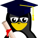 128x128px size png icon of Graduation Tux