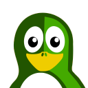 128x128px size png icon of Green Tux