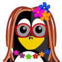 128x128px size png icon of Hippie Tux