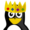 128x128px size png icon of King Tux