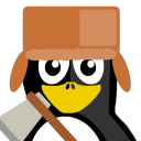 128x128px size png icon of Lumberjack Tux