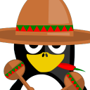 128x128px size png icon of Mexican Tux