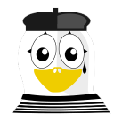 128x128px size png icon of Mime Tux