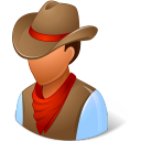 128x128px size png icon of Historical Cowboy