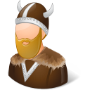 128x128px size png icon of Historical Viking Male
