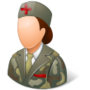 128x128px size png icon of Medical Army Nurse Female Light