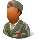 128x128px size png icon of Medical Army Nurse Male Dark