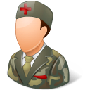 128x128px size png icon of Medical Army Nurse Male Light