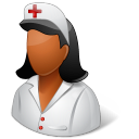 128x128px size png icon of Medical Nurse Female Dark
