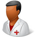 128x128px size png icon of Medical Nurse Male Dark
