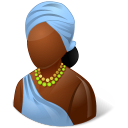 128x128px size png icon of Nations African Female