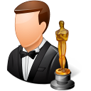 128x128px size png icon of Occupations Actor Male Light