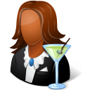 Occupations Bartender Female Dark Icon