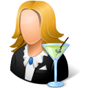 128x128px size png icon of Occupations Bartender Female Light