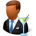 128x128px size png icon of Occupations Bartender Male Dark