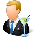 Occupations Bartender Male Light Icon