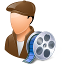 128x128px size png icon of Occupations Film Maker Male Light