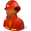 128x128px size png icon of Occupations Firefighter Male Dark
