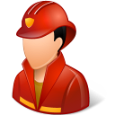 128x128px size png icon of Occupations Firefighter Male Light