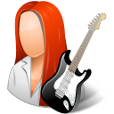 128x128px size png icon of Occupations Guitarist Female Light