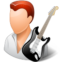 128x128px size png icon of Occupations Guitarist Male Light