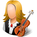 128x128px size png icon of Occupations Musician Female Light