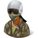 128x128px size png icon of Occupations Pilot Military Female Dark