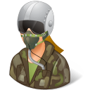 128x128px size png icon of Occupations Pilot Military Female Light