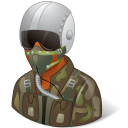 128x128px size png icon of Occupations Pilot Military Male Dark