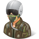 128x128px size png icon of Occupations Pilot Military Male Light