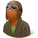 Occupations Pilot OldFashioned Male Dark Icon