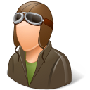 128x128px size png icon of Occupations Pilot OldFashioned Male Light