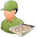 128x128px size png icon of Occupations Pizza Deliveryman Male Light