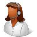 128x128px size png icon of Occupations Technical Support Representative Female Dark