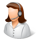 128x128px size png icon of Occupations Technical Support Representative Female Light