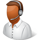 128x128px size png icon of Occupations Technical Support Representative Male Dark