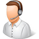 128x128px size png icon of Occupations Technical Support Representative Male Light