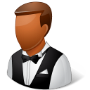 128x128px size png icon of Occupations Waiter Male Dark