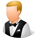 Occupations Waiter Male Light Icon