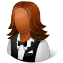 128x128px size png icon of Occupations Waitress Female Dark