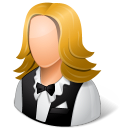 128x128px size png icon of Occupations Waitress Female Light