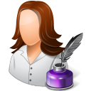 128x128px size png icon of Occupations Writer Female Light