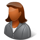 128x128px size png icon of Office Client Female Dark