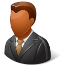 128x128px size png icon of Office Client Male Dark