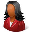 128x128px size png icon of Office Customer Female Dark